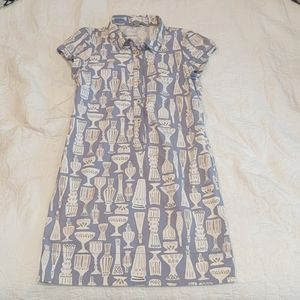 Boden tiki retro inspired dress with pockets